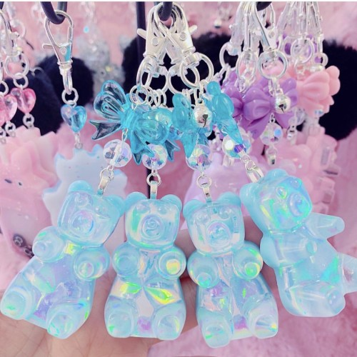 Blue Iridescent Gummy Bear Charm